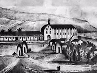 Drawing of the Mission San Gabriel
